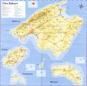 Mapa de las Islas Baleares mapa de las islas baleares