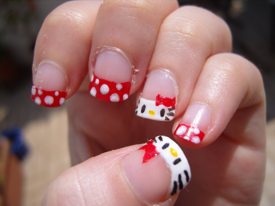 hello cute girls cute hello kitty nail art for you