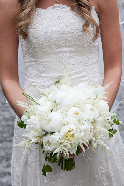 Yaddo Gardens Wedding Bouquet  - white peonies & astilbe