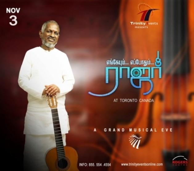 Ilayaraja Live In Concert Enkeyum Eppothum Raja This Show Will Start On November 3 2012 At 500 Pm Yuvan Shankar Karthik Bhavatharini