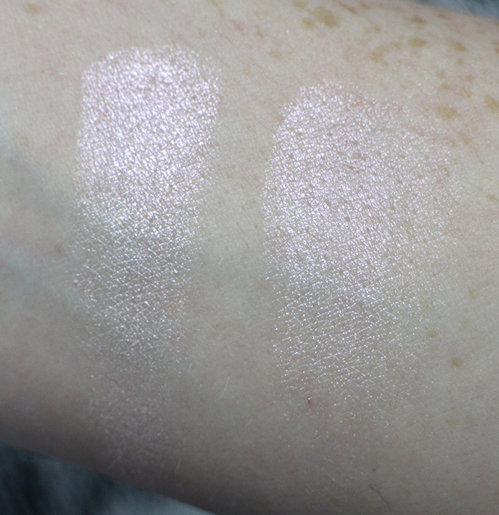MAKE UP REVOLUTION PEACH LIGHTS GODDESS OF LOVE SWATCHES