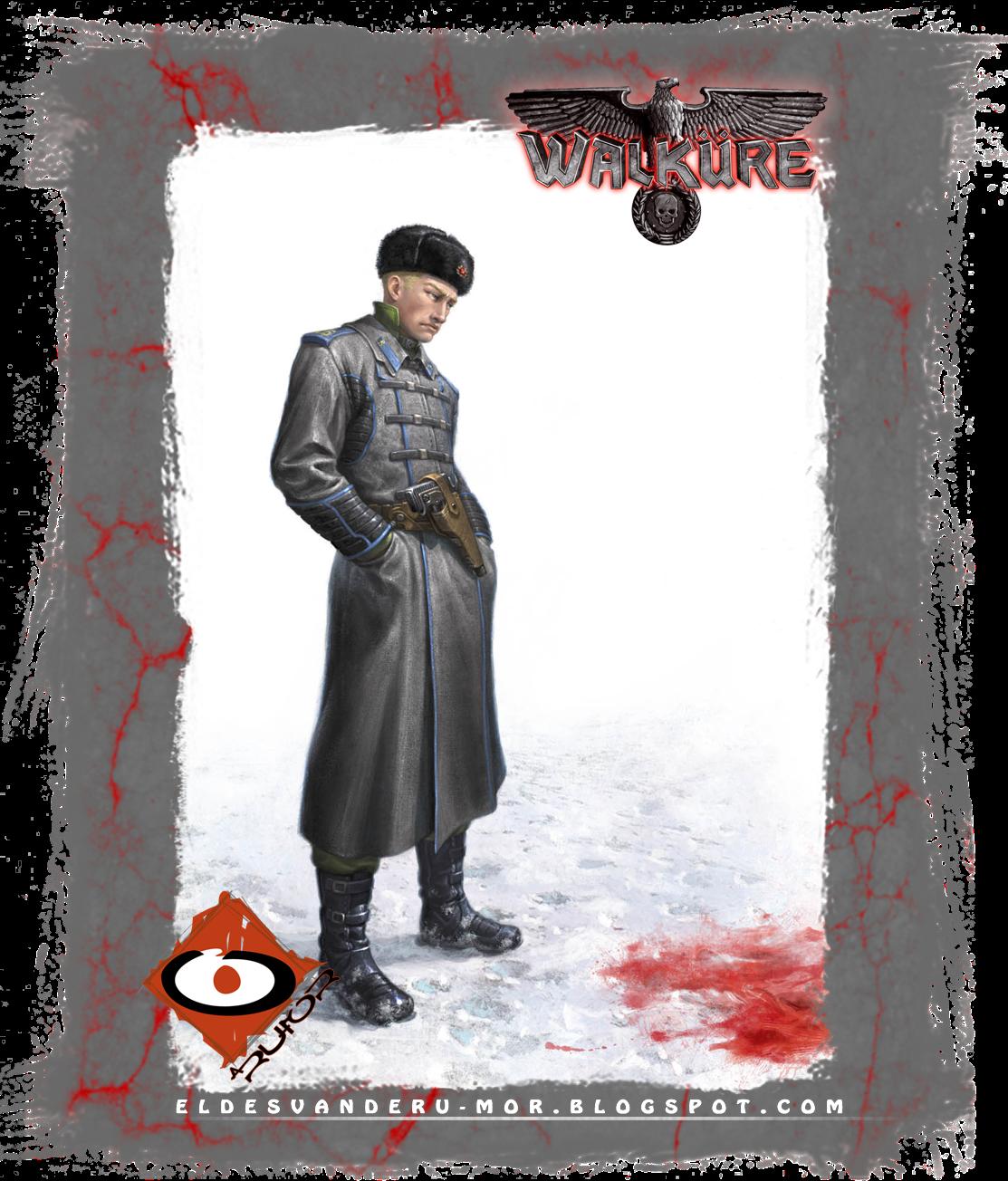 ilustración de personaje para el RPG WALKURE (agente ruso de la KGB) hecha por ªRU-MOR. sci-fi