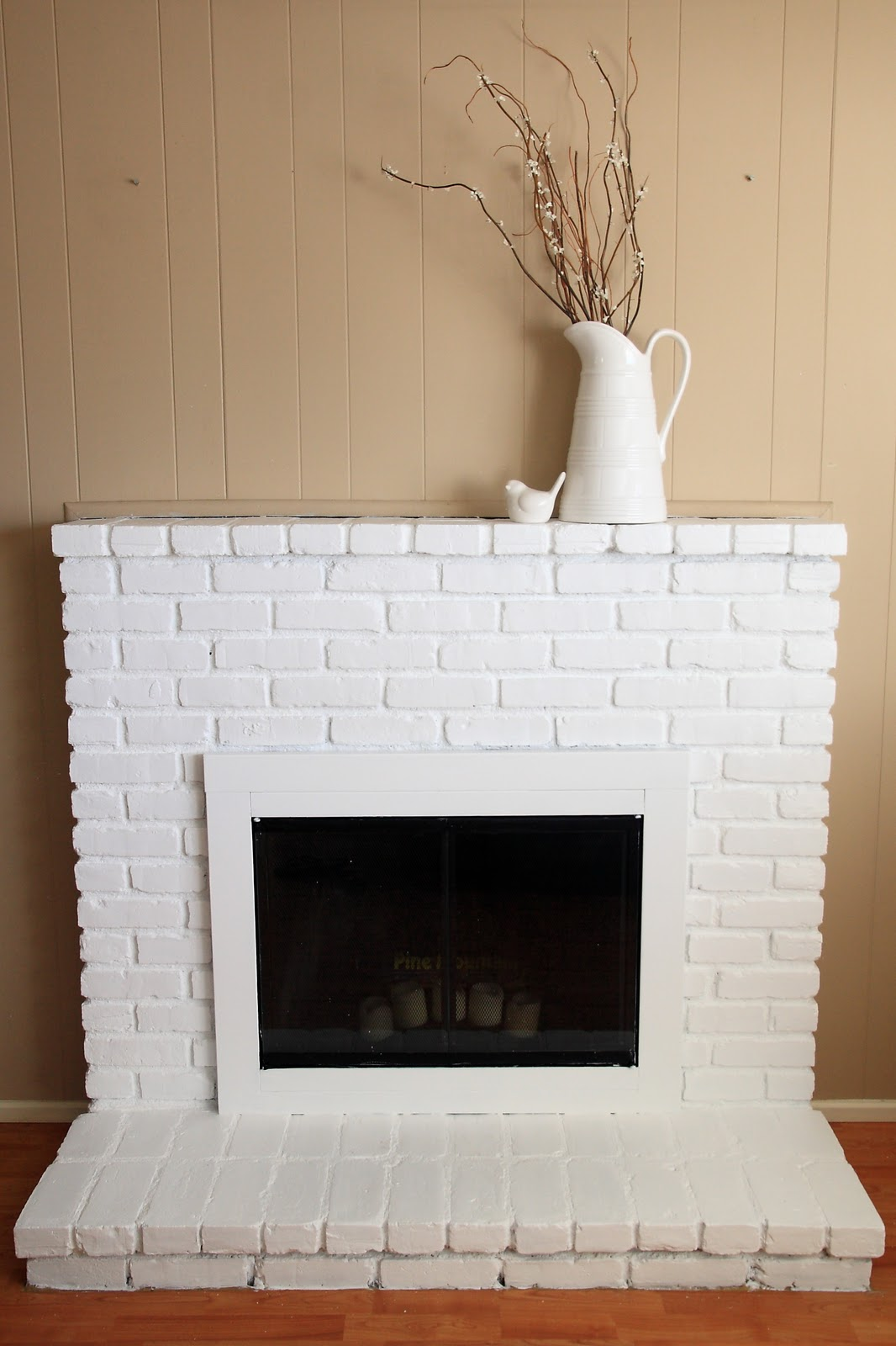 Painted brick fireplace yellow bliss road for Bricks painting design