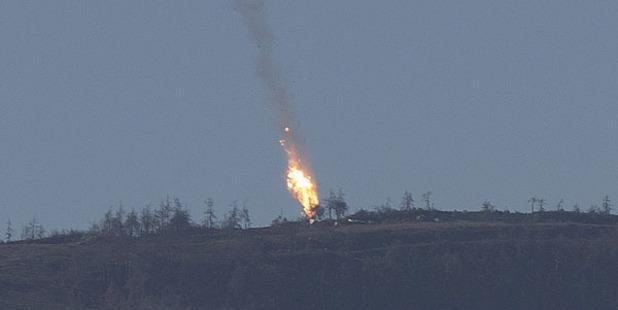 Turkey shot down Russian warplane near Syria border for violation of Turkish airspace