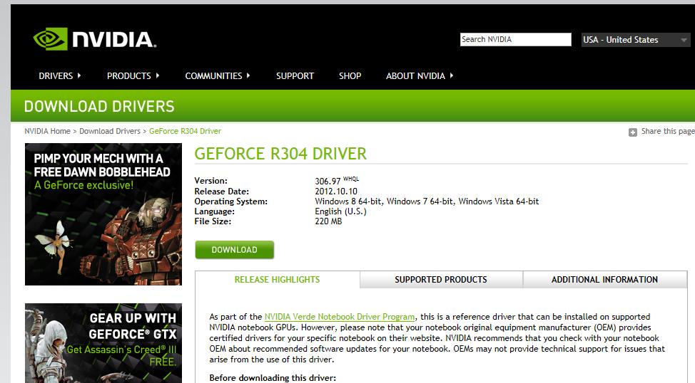 Nvidia Drivers Intel Download
