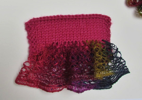 sashay yarn projects So flirty, slinky, and glamorous ruffle scarves are great gift items •  affordable – under $5 • require only 1 ball of yarn • quick knit – finish in one  sitting.
