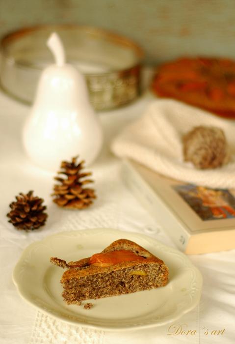 Hruškovo-makový koláč s medom