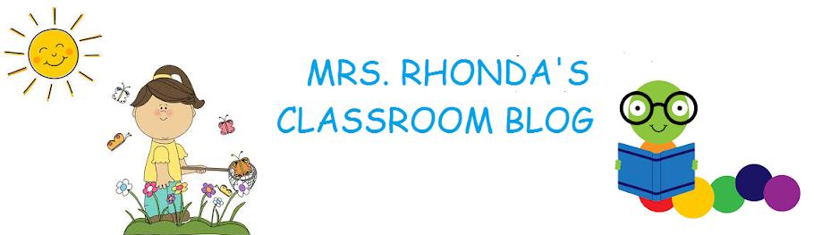Ms. Rhonda's Classroom Blog
