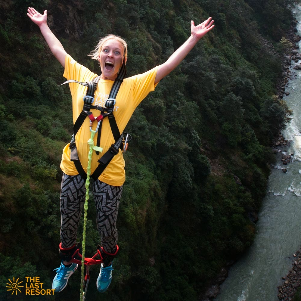 bungy jumping, bungee, Tandem Swing, adventure activities in nepal, the last resort, bhotekoshi river