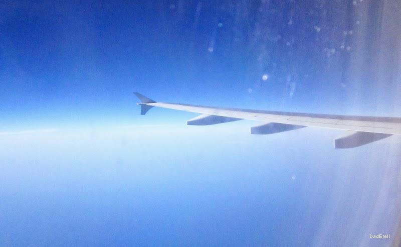 Au-dessus de l'Atlantique en A310