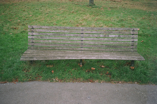 London bench Primrose Hill Camden