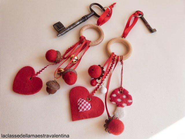 La classe della maestra valentina portachiavi feltrosi for La classe della maestra