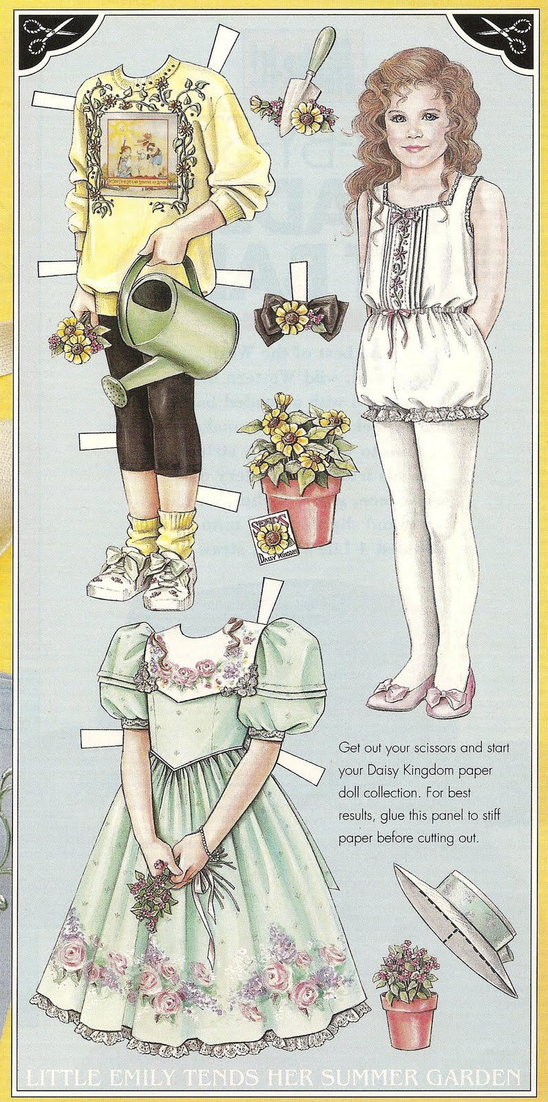Mostly Paper Dolls: Little Emily Tends Her Summer Garden, 1993