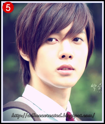 model rambut Kim hyun joong overlay long bang