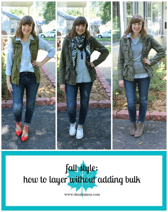 How to layer without adding bulk. | www.shealennon.com