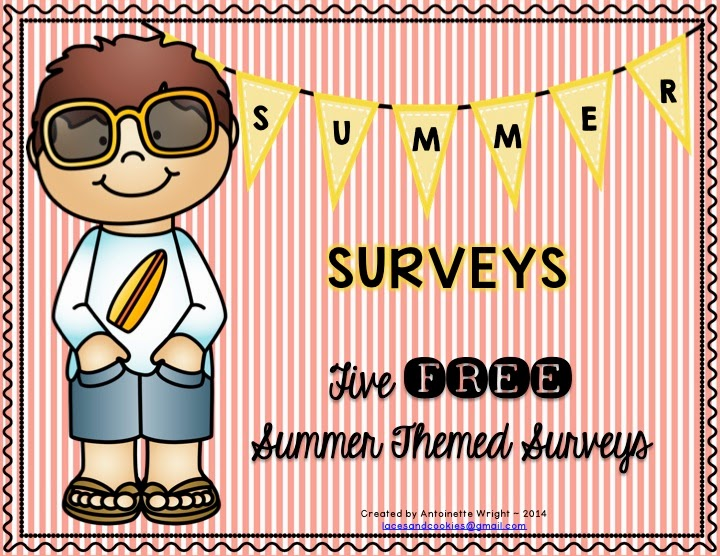http://www.teacherspayteachers.com/Product/FREE-Summer-Surveys-1234570