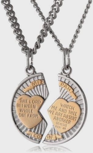 Mizpah Medal Necklace