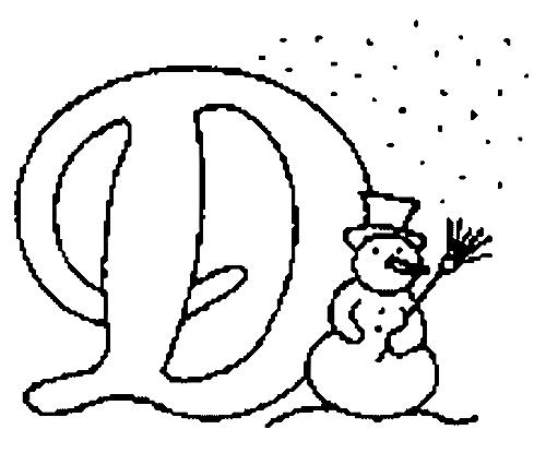 Desenhos Para Colori letras do alfabeto letra D desenhar