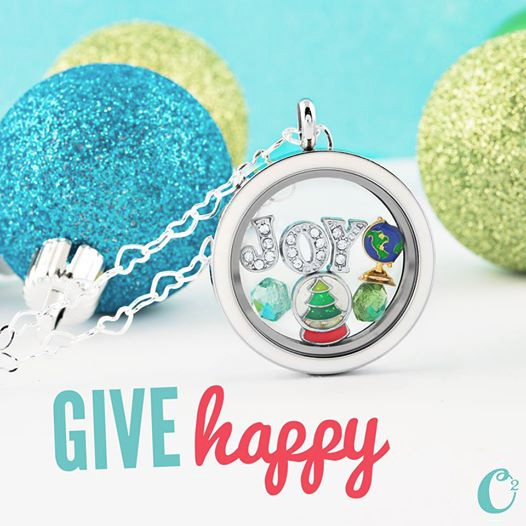 Give Happy With An Origami Owl Living Locket - Come create yours at StoriedCharms.com