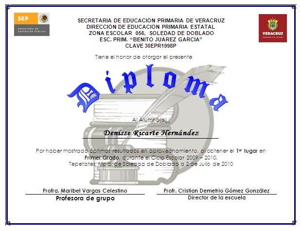 Diploma Para Un Amigo