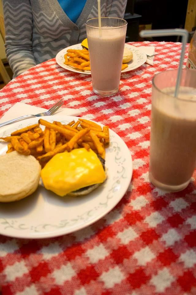50's Date Night Diner Burgers, Fries, Milkshakes