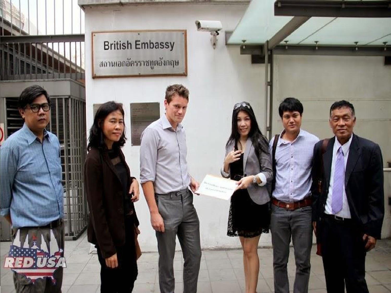 รูปภาพการยื่นหนังสือถึงสถานเอกอัครราชทูตต่างๆ ในประเทศไทย: