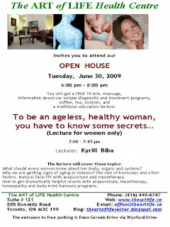 Art of Life Health Centre Open House: ageless, healthy woman know some secrets