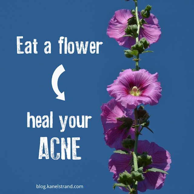 Edible flowers treat acne via @kanelstrand
