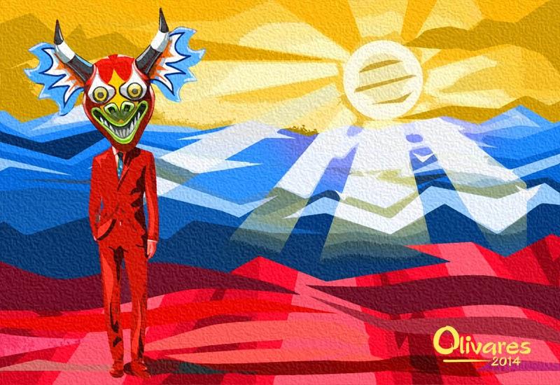 Arte con la bandera de Venezuela  Oscar Olivares