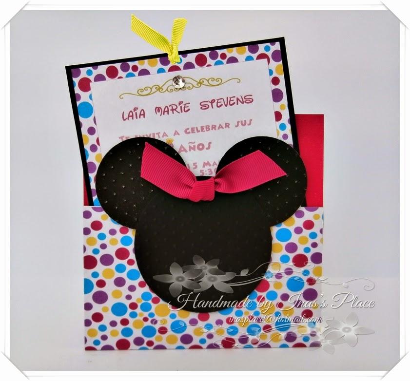 Inas place invitations party supplies minnie mouse birthday minnie mouse birthday invitations party ideas decor solutioingenieria Choice Image