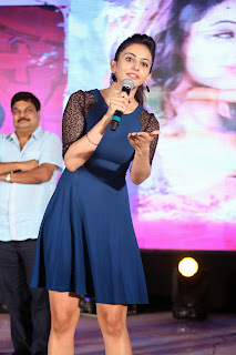 Rakul Preet Singh  Pictures in Blue Dress at Pyar Mein Padipoyane Audio Launch ~ Celebs Next