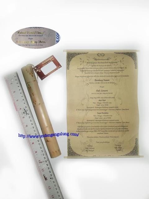 undangan gulung tabung bambu 25cm