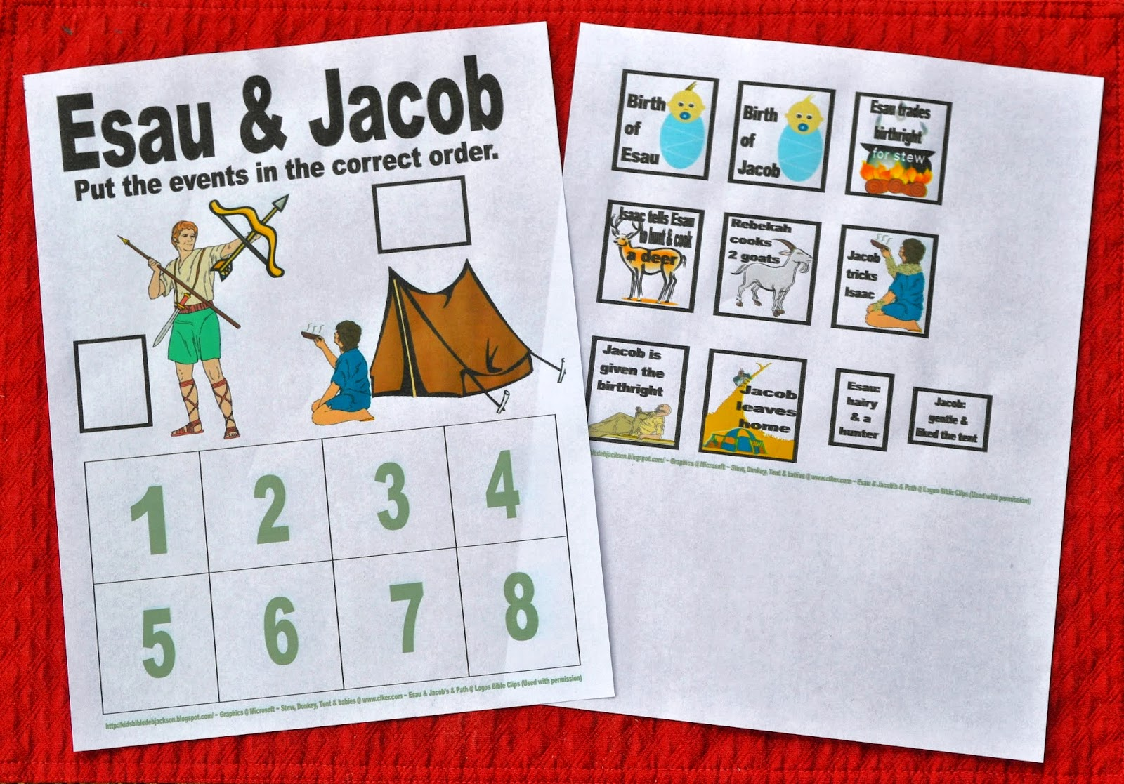 Bible fun for kids genesis jacob esau for Jacob and esau crafts