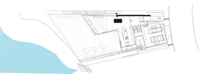 Modern cliff house site plan