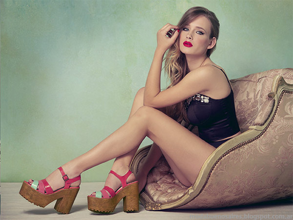 Lady Stork primavera verano 2015 sandalias, zapatos y ojotas de moda 2015.