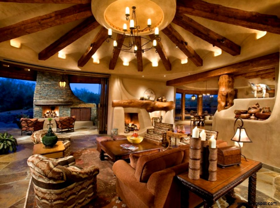 Western Interior Design Western Homestead Ranch Living Room Top