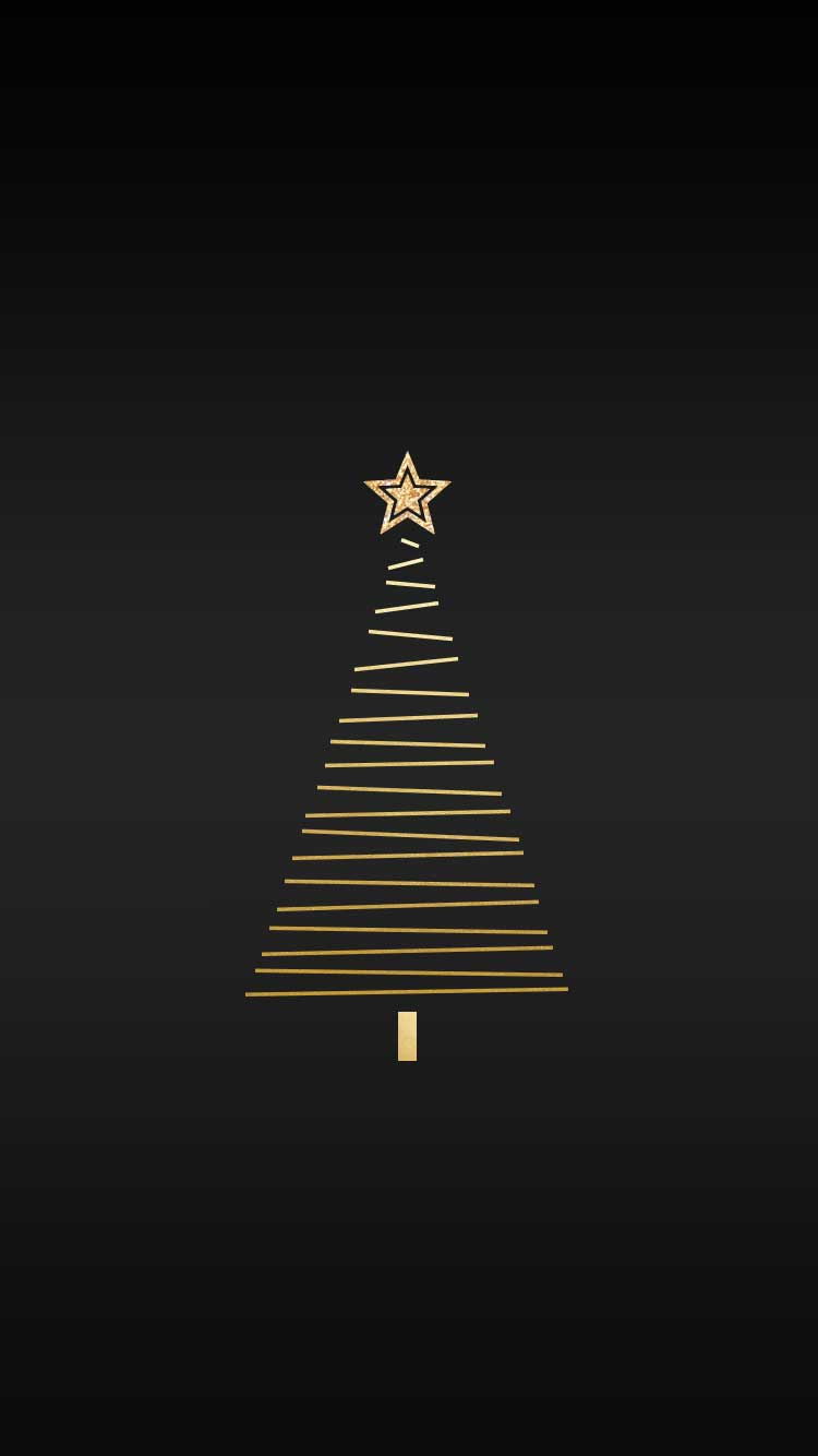 gold christmas tree wallpaper - photo #16