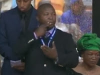 FALSO INTÉRPRETE, IMPOSTOR NO FUNERAL DE NELSON MANDELA