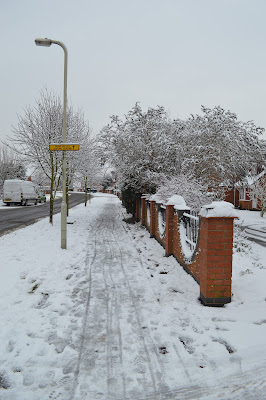 snowy street scene