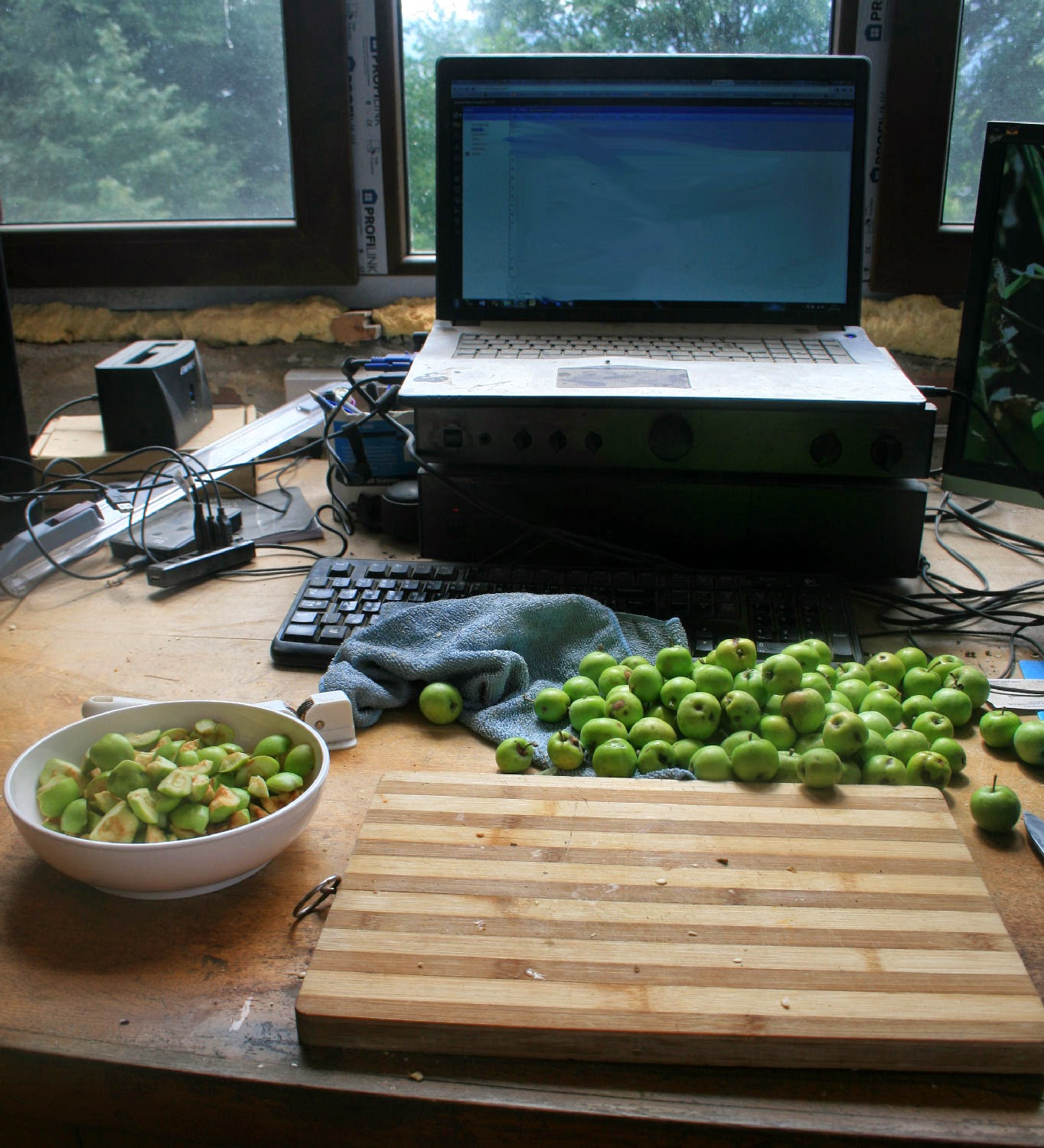 Chopping apples, loads still to do