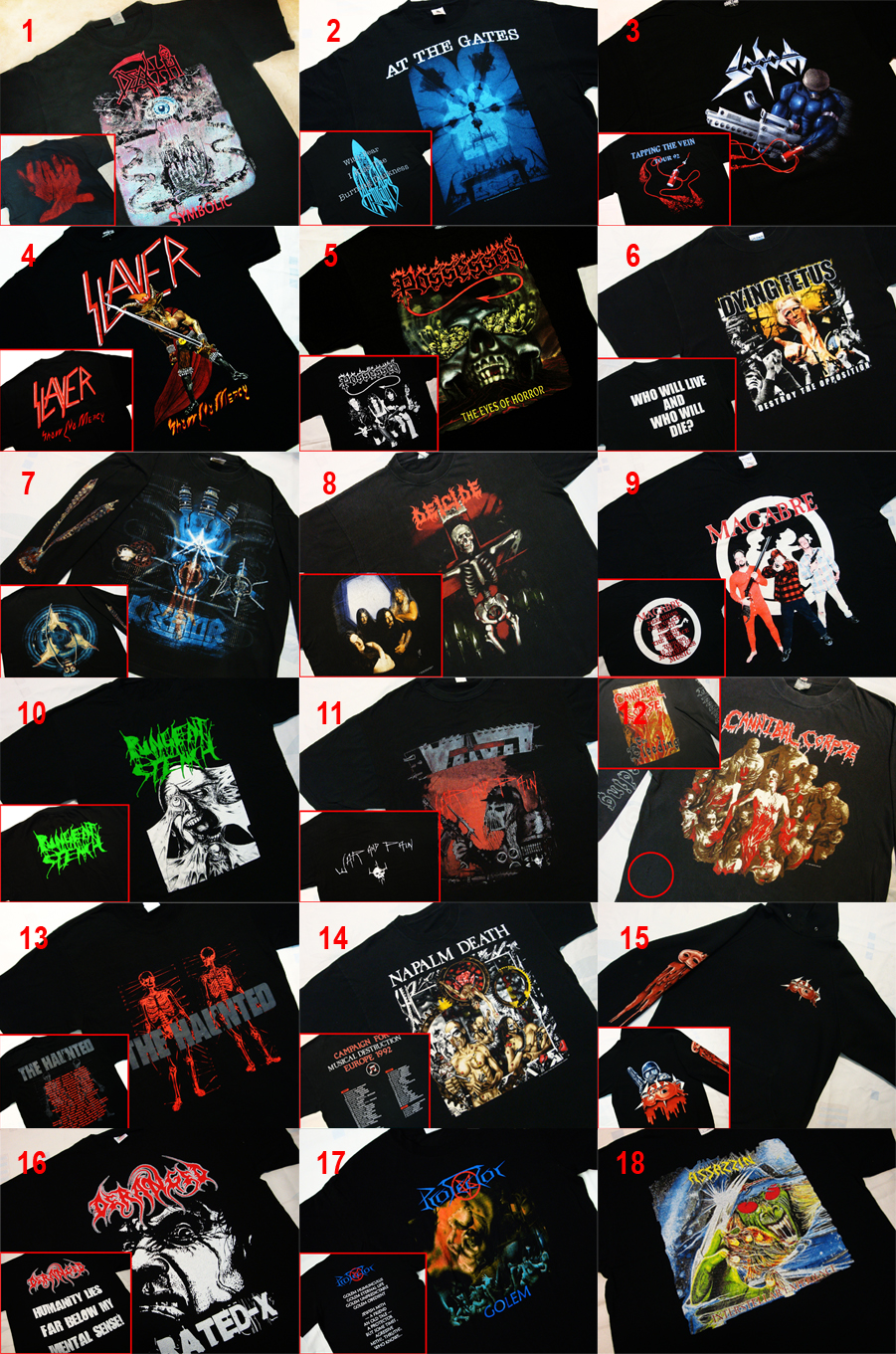 Demonizer art new added stuffs for july vintage used shirts death symbolic vintage tag t shirt printers pty ltd by blue grape 1995 biocorpaavc Choice Image