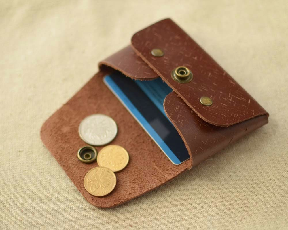 CCW02S Coin/ Card Wallet, Handmade leather Cards wallet, Business ...