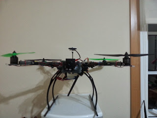 quadcopter FPV front view