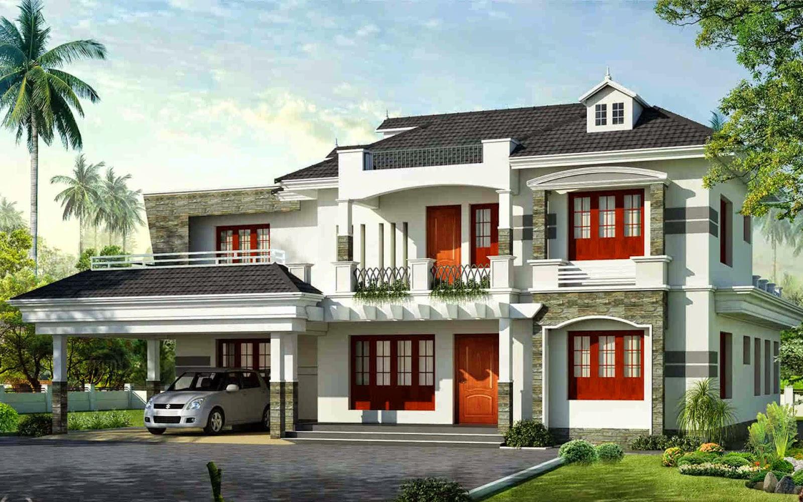 House Exterior Design Pictures Kerala O Wallpaper