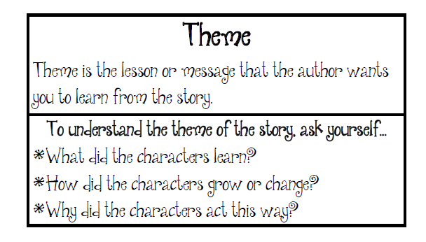 how to find the theme of a story