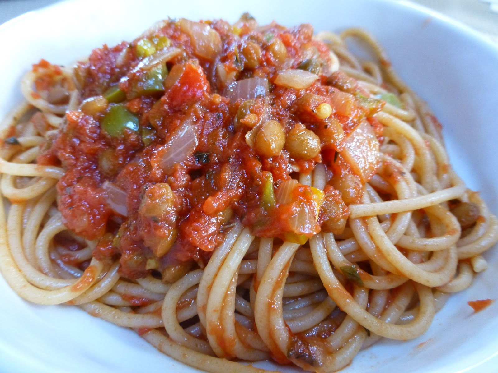 Whole Wheat Spaghetti With A Slow Simmered Meat Sauce Recipes ...