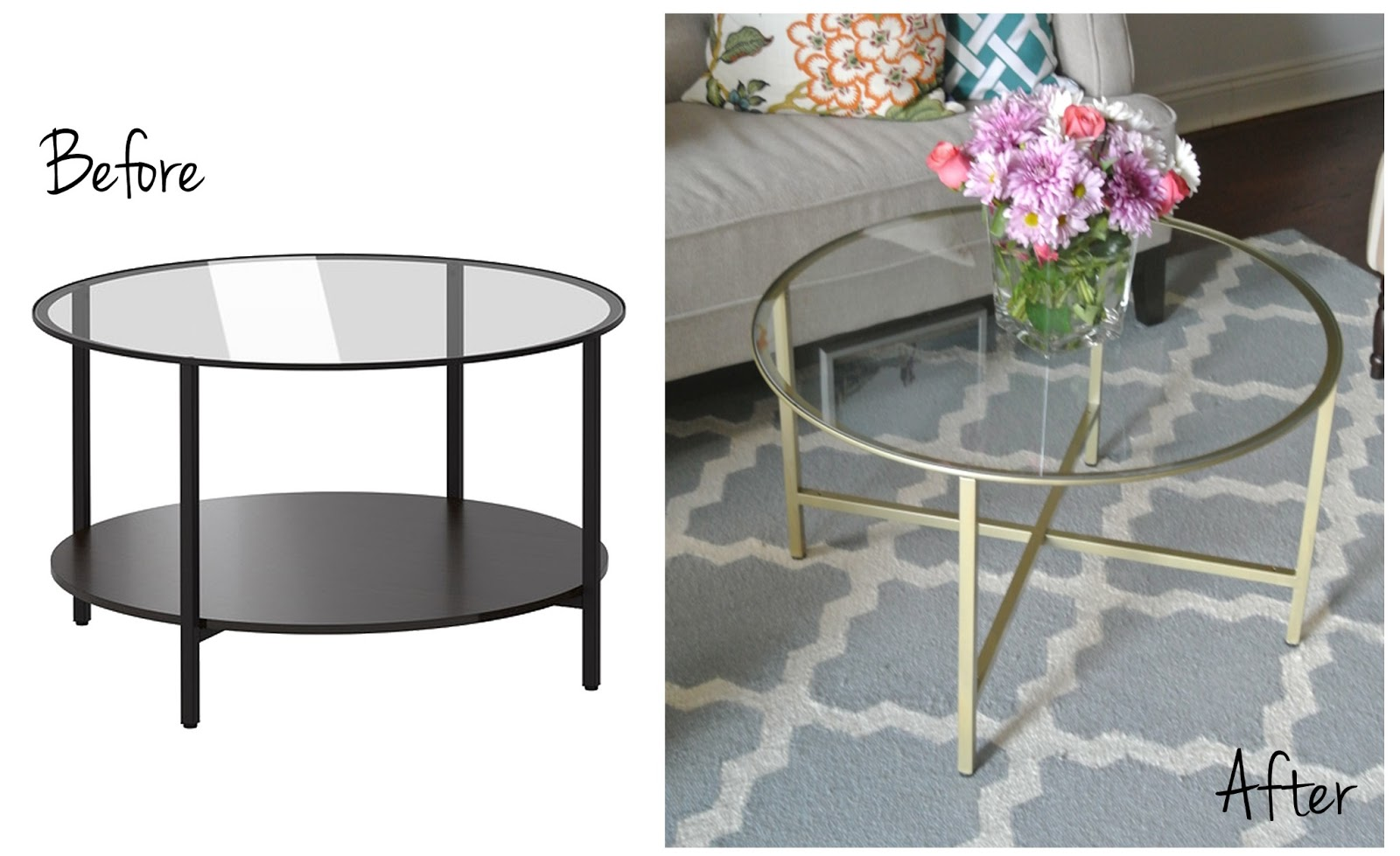 Glass Coffee Table IKEA Hack