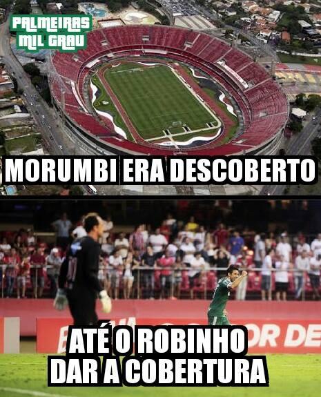 Robinho serve panetone com cobertura ao São Paulo e Palmeiras empata aos 47
