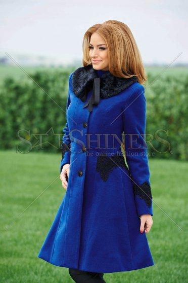 Palton LaDonna Albastru