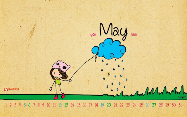 You May Rain Desktop Calendar